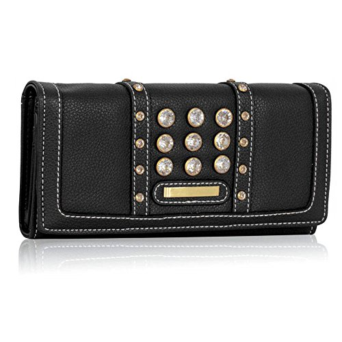 - 51YO5VUl6bL - Ladies Purses Large Designer Womens Wallets Girls Coin Card Holder Faux Leather