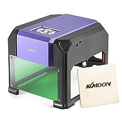 KKmoon AC100-240V 1000mW Mini USB Laser Graviermaschine, Lasergravierer Gravur Maschine Automatisch DIY Druck Gravurbereich 80 x 80mm für Laser Cutting Engraving, Incl. AC DC Adapter USB Stick Kabel