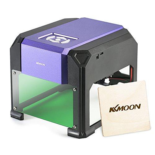 Preisvergleich Produktbild KKmoon AC100-240V 1000mW Mini USB Laser Graviermaschine, Lasergravierer Gravur Maschine Automatisch DIY Druck Gravurbereich 80 x 80mm für Laser Cutting Engraving, Incl. AC DC Adapter USB Stick Kabel