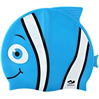 Fun Design Kids Silikon Badekappe Animal Fischform Swim H/üte f/ür Jungen und M/ädchen