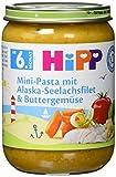 HiPP Mini-Pasta mit Alaska-Seelachsfilet und Buttergemüse, 6er Pack (6 x 190 g) (Bild: Amazon.de)