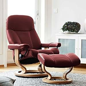 stressless consul l fauteuil relax avec tabouret bordeaux large cuisine maison. Black Bedroom Furniture Sets. Home Design Ideas
