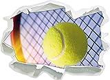 Racchetta da Tennis con Palla da Tennis, di Carta 3D Autoadesivo della Parete Formato: 62x45 cm Decorazione della Parete 3D Wall Stickers Parete Decalcomanie