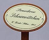Rosenschild Emaille, Strauchrose: Schneewittchen, W.Kordes`Söhne 1958
