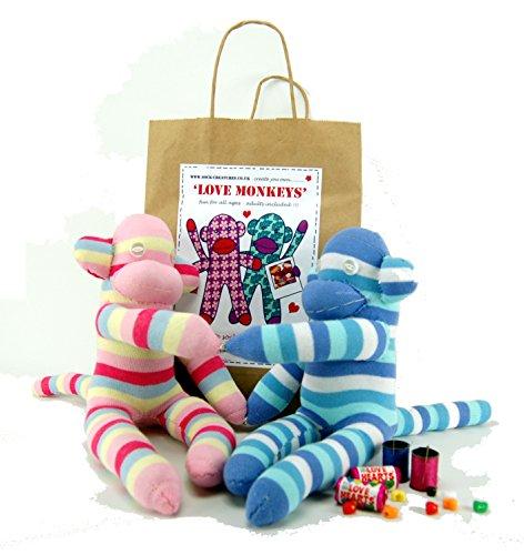 Sock Love Monkeys Sewing Craft kit (Sock Monkey Handwerk)