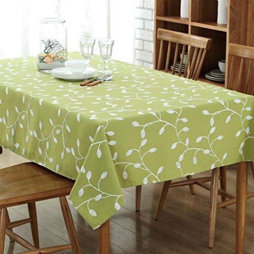 Gwell Nappe Rectangulaire Tissu Vert Blanche Imprimé Fleurs 100*140 cm