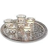 Loberon Windlicht 6er Set Felicity, Dekoration, Wohn-Accessoires, Glas, H/Ø ca. 4,7/6,3 cm, klar/Silber