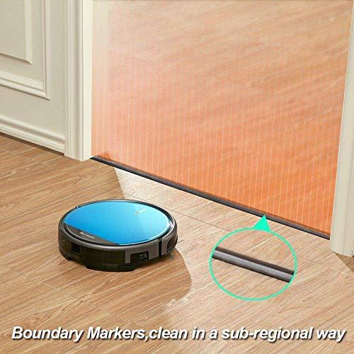 Proscenic 811GB WLAN Staubsauger Roboter(2 in 1: Saugroboter mit Wischfunktion), Wischroboter, Wassermenge einstellbar(3 Stufen), App- und Alexa Steuerung, Magnetband für Bereich Begrenzung - 4