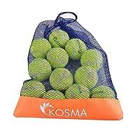 Kosma pour animal domestique Balles Balles de tennis | jouet pour chien Boule | jouet pour animal domestique Training- en couleurs vives avec sac de transport en maille