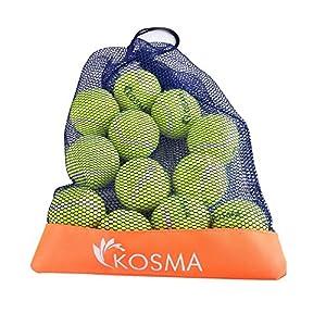 Kosma pour animal domestique Balles Balles de tennis   jouet pour chien Boule   jouet pour animal domestique Training- en couleurs vives avec sac de transport en maille