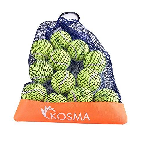 Kosma Satz von 24 Tennisbälle Pet-Kugeln | Hund | Spielzeug Spielzeug Ball für PET-Ausbildung - in der Mesh-Tragetasche (Ball In Einem Ball Hund Spielzeug)
