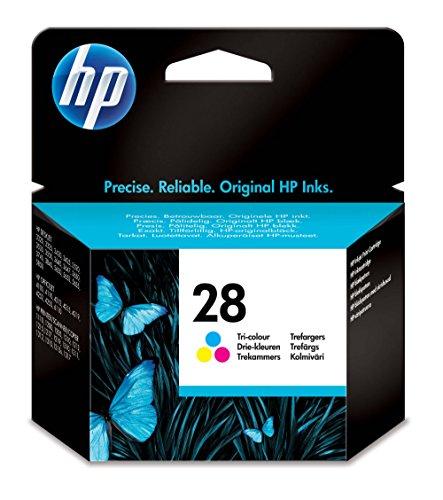 HP 28 Original Cartucho de tinta tricolor en papel de embalaje