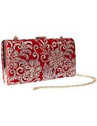 5f49f745074af ShowYeu Damen Clutch Tasche Abendtasche Brauttasche Hochzeit Clutch Bag  Elegante Handtasche…