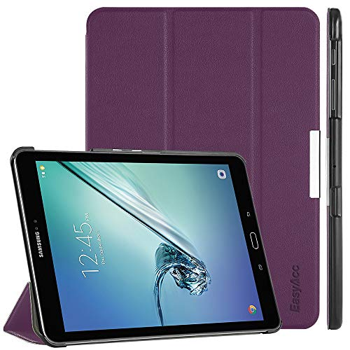 EasyAcc Hülle für Samsung Galaxy Tab S2 9.7, Smart Cover mit Standfunktion Auto Wake Up Sleep PU Leder Hüllen Kompatibel für Samsung Galaxy Tab S2 9.7 Zoll (T810/ T813/ T815/ T819), Lila - Nook Tasche Tablet Farbe Nook Oder