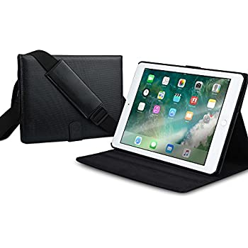 Apple iPad Pro 9.7 case, iPad Air 2 case [Mobility Shoulder Strap iPad Cases] COOPER MAGIC CARRY II PRO Shock Proof Travel Folio iPad Cover | Hand Strap, Multi-Angle Stand, Easy to Carry (Black)
