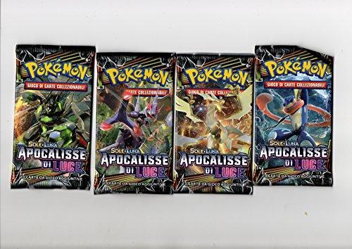 Pokémon Lotto 4 buste/bustine SOLE E LUNA APOCALISSE DI LUCE: nuove, sigillate e in italiano!!!