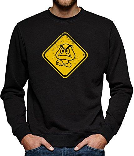 TLM Beware Gomba Sweatshirt Pullover Herren M Schwarz