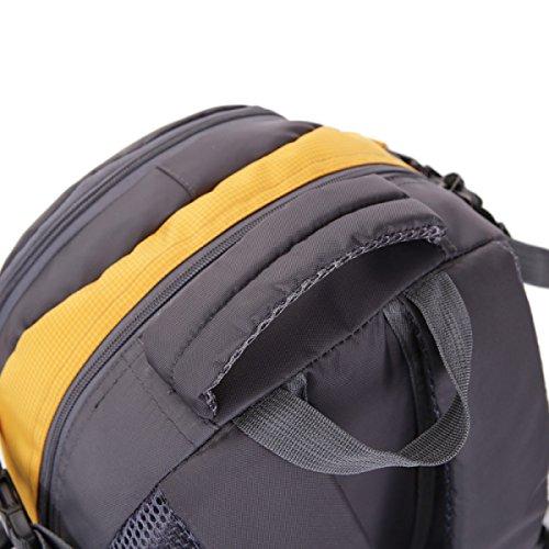 LQABW 45L Outdoor-Bergsteigen Männer Und Frauen-Schulter-Wasserdicht Atmungs Freizeit Reisen Rucksack Tasche Yellow