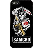 Solenzo Coque Samcro Style Sons Of Anarchy Pour iPhone 4 5 5C 6 6 + 7 Ou Samsung S2 S3 S3 Mini S4 S4 Mini S5 S6 S6 S7 Edge Note 2 3 (Samsung J7 (2017 J730))