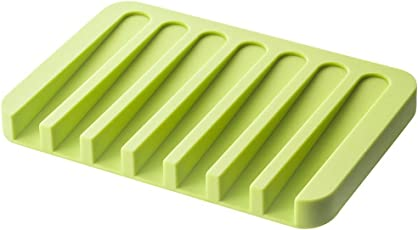 House of Quirk 1Pc Self Draining Silicone Drying Mat Silicone Soap Dish/Soap Holder/Soap Tray (Assorted Color Will Be Send)