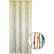 cortina para puerta sisal natural y madera de colores diseo tnico hogar