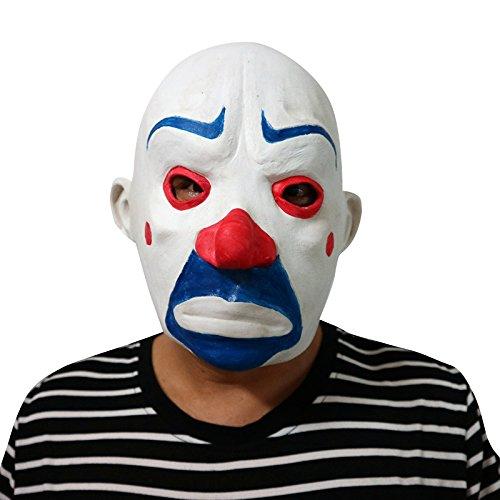 thematys Horror-Clown Grusel Bankräuber Maske - Perfekt für Fasching, Karneval & Halloween - Kostüm für Erwachsene - Latex, Unisex Einheitsgröße