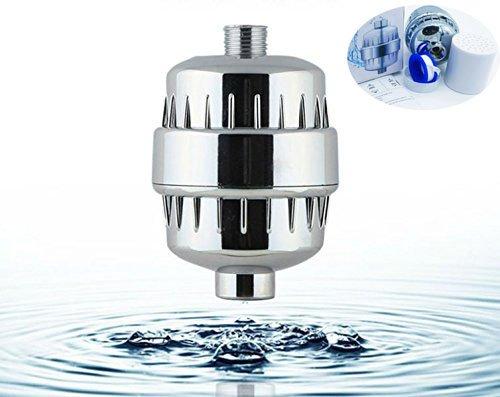 Universal Duschkopf Filter, Goodsmiley 5 stufige Wasser Luftreiniger mit auswechselbare Filter Kartusche, Teflonband werden für entfernen Chlor, Schwermetalle, Schwefel-Geruch und andere schädliche Substanz Test