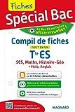 Compil de fiches tout en un  Tle ES : SES, Histoire-géo, Maths, Anglais, Philosophie