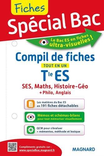 Compil de fiches tout en un  Tle ES : SES, Histoire-go, Maths, Anglais, Philosophie