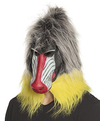 TH-MP Mandrill Wald Pavian Maske Affenmaske Tiermaske