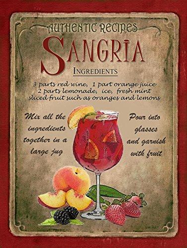 cocktail-sangria-stunning-metal-8x6-sign