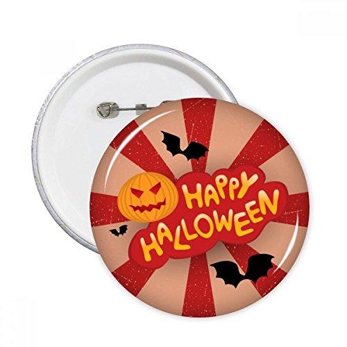 DIYthinker Cartoon Halloween Schriftarten Runde Stifte Abzeichen-Knopf Kleidung Dekoration Geschenk 5pcs Mehrfarbig S