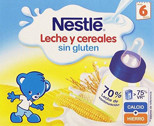 NESTLÉ Leche y Cereales Sin Gluten - Paquete de 6 x 2 unidades de 250 ml