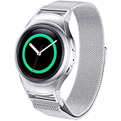 20mm Replacement Watch Band, C'est Milanese Magnetic Loop Stainless Steel Band+Connector For Samsung Gear S2 720 Sport Edition