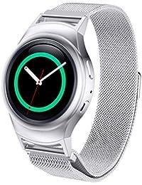 20mm bande de montre de rechange, c'est Milanaise bande en acier inoxydable boucle magnétique + connecteur pour Samsung Gear S2720Sport Edition, mixte, C'est, argent