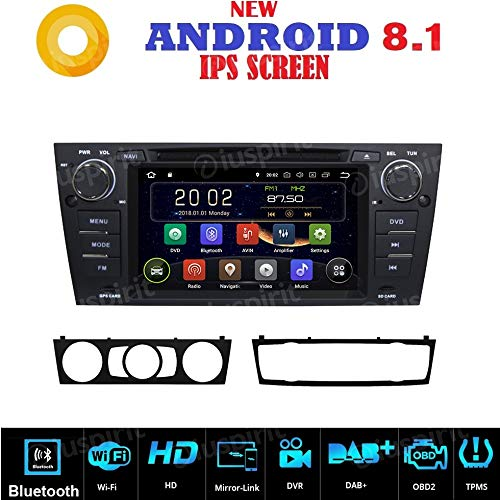 Autoradio navigateur GPS Android 7.1 GPS DVD USB SD Wi-Fi Bluetooth BMW serie 3 / BMW E90 / BMW E91 / BMW E92 / BMW E93
