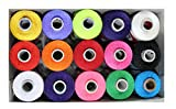 #4: DECCAN Polyester Silk Thread / 15 spool / Mix Colors, For Embroidery,Decorative & Lustrous Stitches,Fast Colors AZO free/ Best Quality