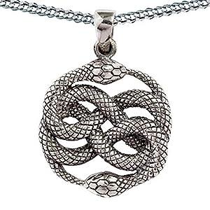 HOPLO Auryn Aurin Zwei Schlangen Kette Anhänger Schmuck 925 Silber Atreyu Unendliche Geschichte