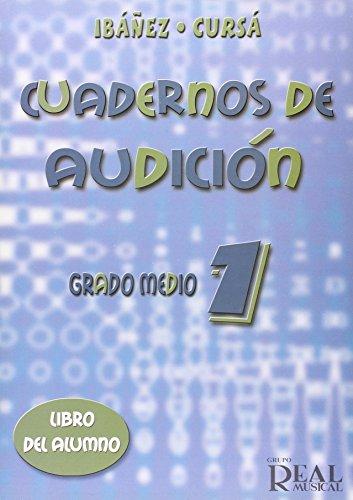Cuadernos de Audición, Grado Medio 1 (Libro del Alumno) (RM Audicion)