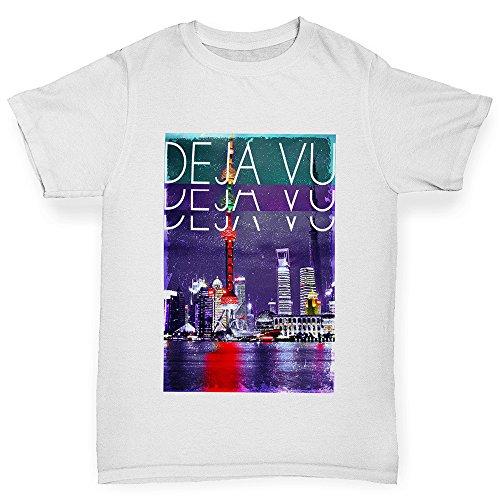 TWISTED ENVY Déjà Vu City Boy's Funny Cotton T-Shirt, Comfortable and Soft Classic Tee With Unique Design