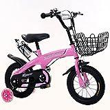 DWW-Bicicletta bicicletta dei bambini Anti-skid assiste l'assorbimento di scossa che assistono l'anello di alta qualità del carbonio dell'automobile del braccio di bicicletta dei bambini Bicicletta ( Colore : Rosa , dimensioni : 14inch )