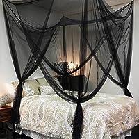 Gran Protector de Anti Mosquito Net Doble Cama Red Dosel cortinas mosquitera repelente de protección completa para colgar Kit 4aberturas 200x 210x 240mm