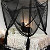 Grande schermo rete anti zanzariera letto matrimoniale baldacchino tenda zanzariera protezione repellente completo kit per appendere 4aperture 200x 210x 240MM