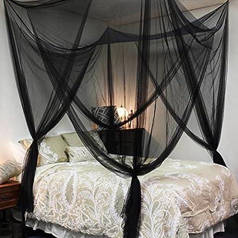 Moskitonetz Bett Doppelbetten Riesig Indoor Outdoor Travel Fliegennetz Mückennetz Insektennetz Spitze Betthimmel Insekten Malaria Schutz mit Vier Öffnungen Insektenschutz 200x210x240mm