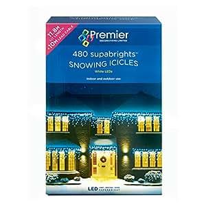 480 led snowing icicles premier christmas lights. Black Bedroom Furniture Sets. Home Design Ideas