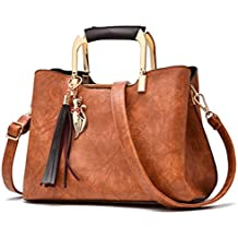Las mujeres Vintage bolsos de cuero Bolsos Bolso Mujer Borla Bolso De cuero femenino señoras bolso