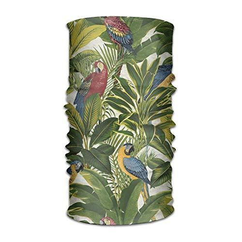 ?Unisex Tropical Bird Multifunktions-Bandana-Stirnband Sportliches Schwei?band mit Kopfbedeckung, Zauberschal, Nackensturmhaube, Innenhelm, Schlauchmaske, UV-Best?ndigkeit, Outdoor-Sport-Yoga (Bandana Bird)
