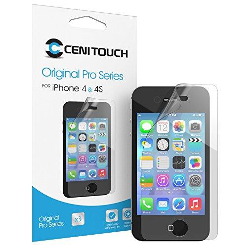 Cenitouch®-Original-Pellicola proteggi schermo in vetro temperato per iPhone 4/4S, serie a specchio [] tuffglas®-Pro-Pellicola protettiva trasparente per lo schermo, colore: trasparente Mirrored - Original Pro Series