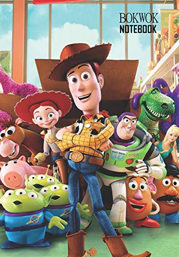 Notebook: Toy Story Medium College Ruled Notebook 129 pages Lined 7 x 10 in (17.78 x 25.4 cm)