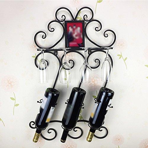 CivilWeaEU- Home Wandmontierte Weinregal Tasse Top Up Wein Tray Suspension Individuelle Wein Showcase Weinflasche Rack -Regal (Weinregal Top)
